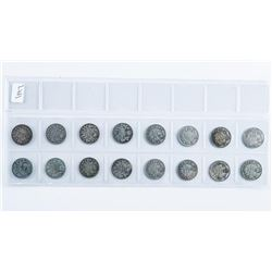 Group of (16) Canada Silver 10 Cents, Early  Years