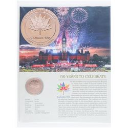 CANADA 150 - Bronze Medallion with Art Card