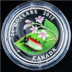 .9999 Fine Silver 20.00 Coin - Venetian Glass  - Dogbane Beetle. Low Mintage, Limited  Edition with
