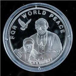 For World Peace 2010 925 Silver 10.00