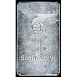 Scarce - Scotiabank 100oz .999 Fine Silver Bar. Very Collectible.