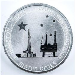 Australia Sister Cities Houston-Texas .999  Fine Silver Coins