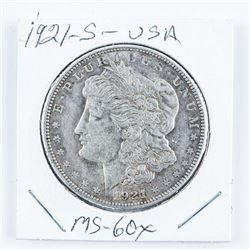 1921-S USA Silver Morgan Dollar