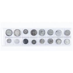 Group of (16) Foreign Silver Coins