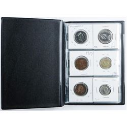 Coin Starter Collection, 18 Coins, Stock Book  with Silver
