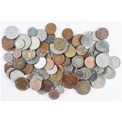 Lot - Bag (100) Coins, World.