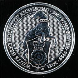 2021 White Greyhound of Richmond - 5 Pounds  Coin 2oz ASW