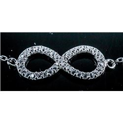 Infinity Bracelet 925 Silver with Swarovski  Elements
