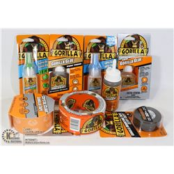 NEW 8 GORILLA ITEMS GLUE & TAPE