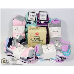 NEW WOMENS 40 PAIR OF ANKLE
