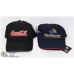NEW 2 BASEBALL CAPS COCA-COLA
