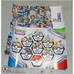 LOT OF 3 VARIOUS POKEMON COLLECTORS POSTERS
