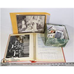 BOX -ANTIQUE PHOTOS AND LETTERS