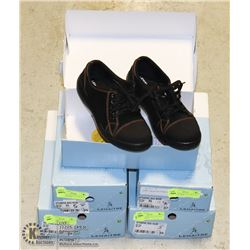 5 PAIRS OF WOMENS SAFETY WORK SHOES