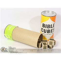 1963 BIBLE CUBES