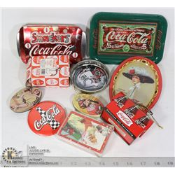 BAG- TRAYS, TINS, BUTTONS,CARDS