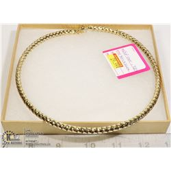 18KT GP OVER .925 BRAIDED NECKLACE