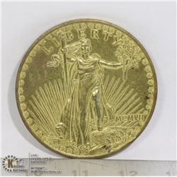 1907 REPLICA ST GAUDENS DOUBLE EAGLE MEDAL
