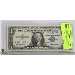 1957 USA BLUE SEAL SILVER CERTIFICATE $1
