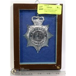UK CUMBRIA CONSTABULARY BOBBY HELMET CAP BADGE