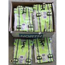CASE OF 25 NORTH HIGH VISIBILITY SAFETY BELTS