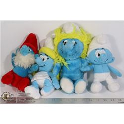 BAG - OLD STUFFY SMURFS