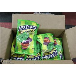 CASE WITH 12 180G PACKS LIFE SAVER SOUR GUMMIES