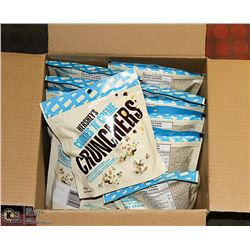CASE WITH 12 170G BAGS OF HERSHEYS COOKIES & CREME