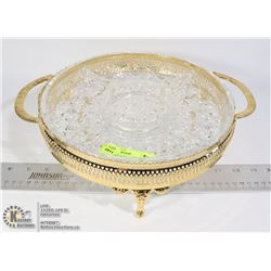 VINTAGE GOLD SERVING DISH