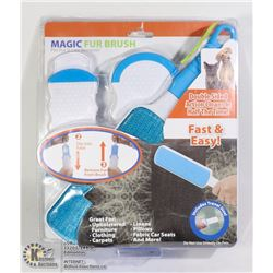 NEW MAGIC FUR BRUSH PET FUR AND LINT REMOVER