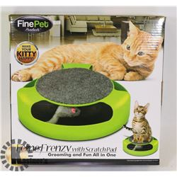 NEW FELINE FRENZY PET TOY WITH SCRATCH PAD