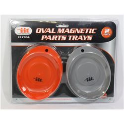 NEW 2PC OVAL MAGNETIC PARTS TRAYS