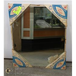 "NEW BEVELED GLASS MIRROR (20""X16"") -"