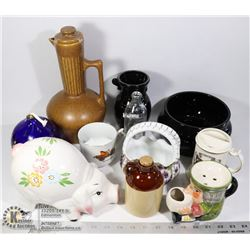 LARGE FLAT OF ESTATE COLLECTIBLES AND GLASSWARE