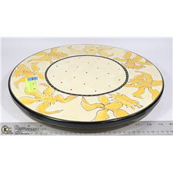 VINTAGE HAND DECORATED LAZY SUSAN  ART