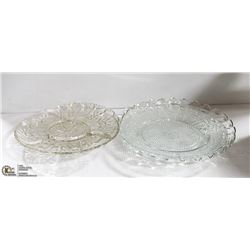 ESTATE VINTAGE SERVING PLATES 4 PC