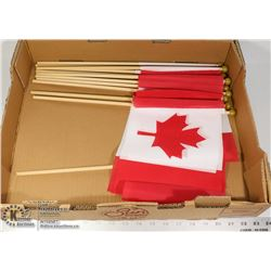 FLAT OF CANADIAN FLAGS ON STICKS