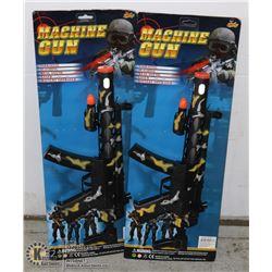 LOT OF TWO MACHINE GUN TOYS