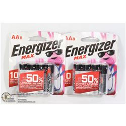 TWO 8 PACKS OF ENERGIZER AA BATTERIES