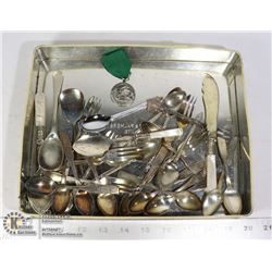 FLAT OF ASSORTED COLLECTOR SPOONS