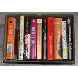 BOX OF 10 BOOKS - BEATLES, BOWIE, PAUL SIMON,