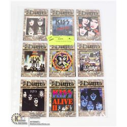 SHEET OF 10 KISS ALBUM COVERS CARDS