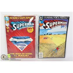 LOT OF TWO SUPERMAN 1993 COMIC BOOKS #9,#13