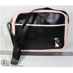 BLACK AND WHITE CAT THEMED BAG