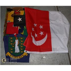 LARGE FLAT OF ASSORTED FLAGS