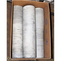 """SET OF 3 EXPANDABLE 4.5"""" ID   DUST COLLECTOR TUBES"""