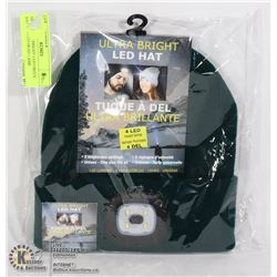 NEW ULTRA BRIGHT LED GREEN HAT W/ 4 LED HEAD LAMP