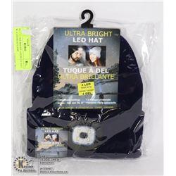 NEW ULTRA BRIGHT LED BLUE HAT W/ 4 LED HEAD LAMP