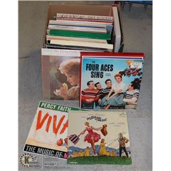 BOX OF RECORDS INCLUDING THE SOUND OF MUSIC