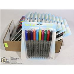 BOX OF 12 NEW PACKS OF ASSORTED COLORED